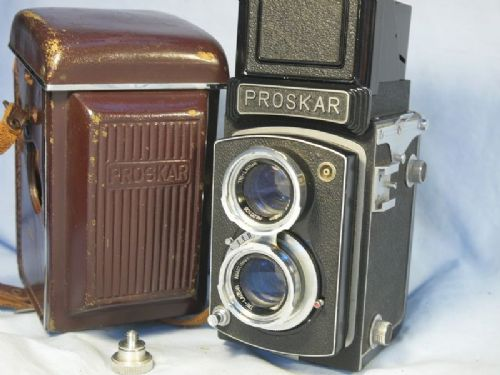 '    PROSKAR -VERY RARE- Cased  ' Proskar TLR Vintage Camera Cased -VERY RARE TLR CAMERA- £99.99
